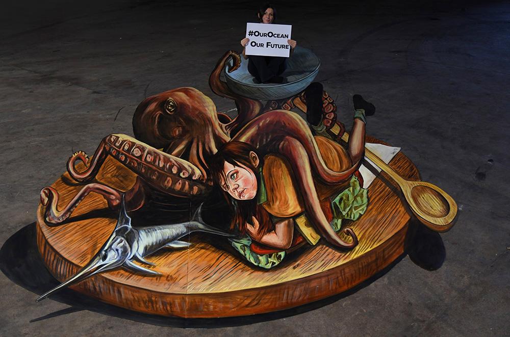Our Ocean Street Art by Vera Bugatti