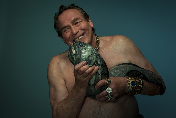 Fish Love: Bobby George with Wolf Fish