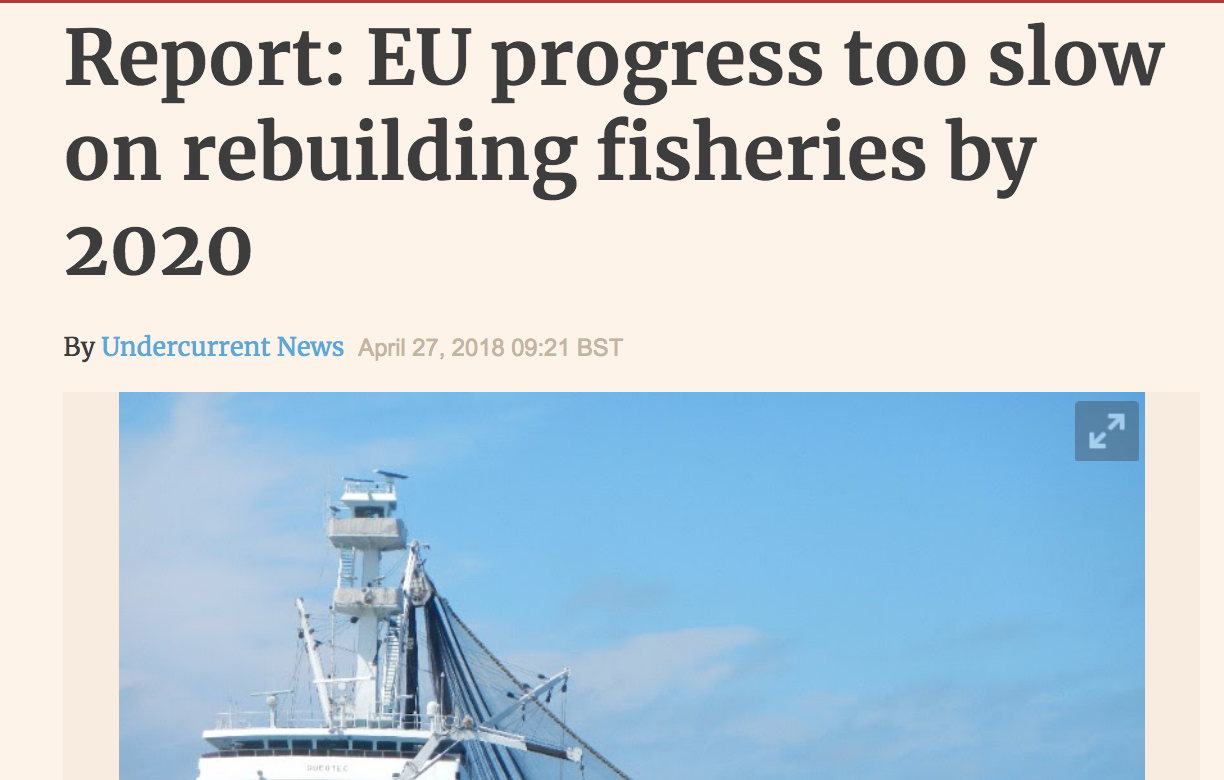Undercurrent: EU progress too slow on rebuilding fisheries by 2020