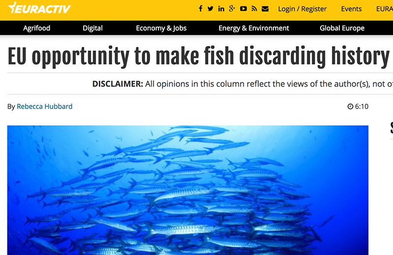 World Ocean Day 2018: EU opportunity to make fish discarding history