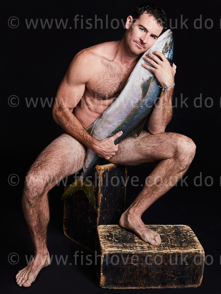 Ben Lawson: Celebrities and actors pose with fish in a courageous call on EU governments for bold action to #EndOverfishing in Europe's waters by 2020. © Fishlove/Alan Gelati.
