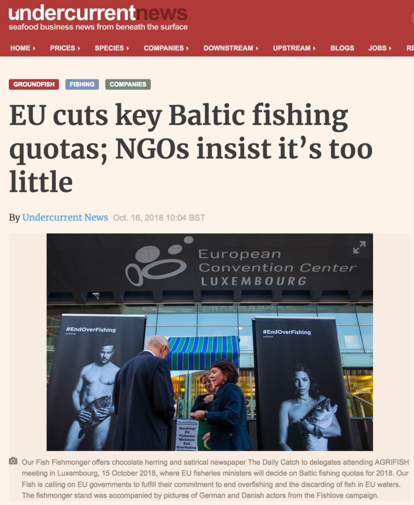 EU cuts key Baltic fishing quotas; NGOs insist it's too little