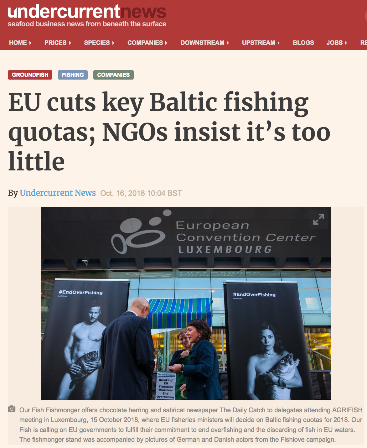 EU cuts key Baltic fishing quotas; NGOs insist it's too little