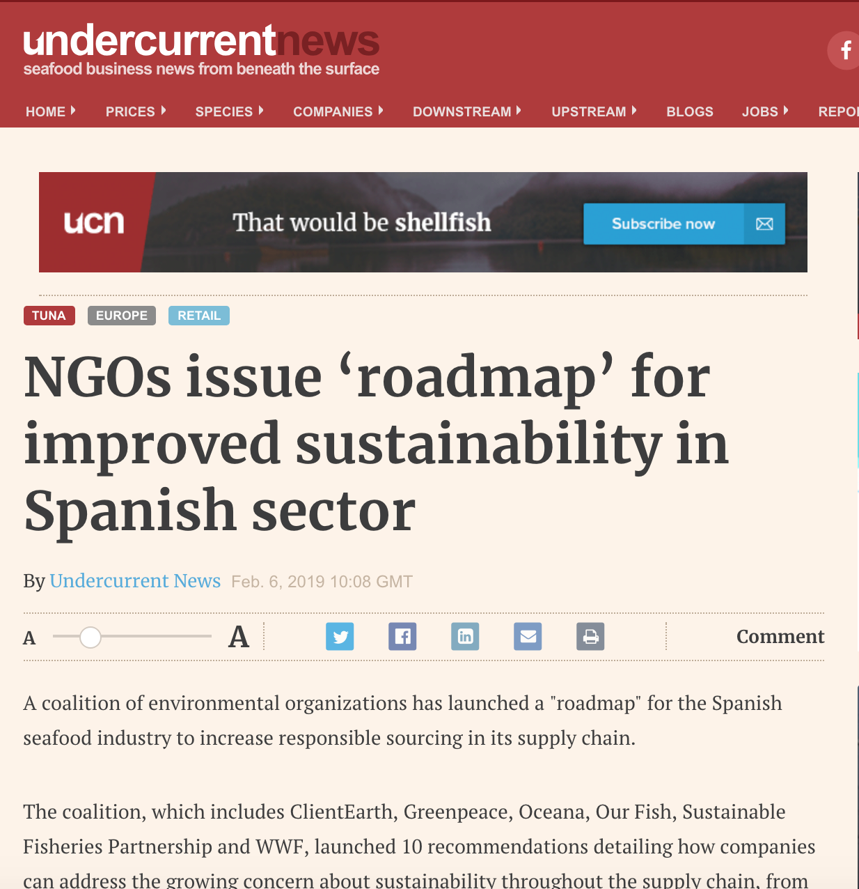 NGOs issue 'roadmap' for improved sustainability in Spanish sector