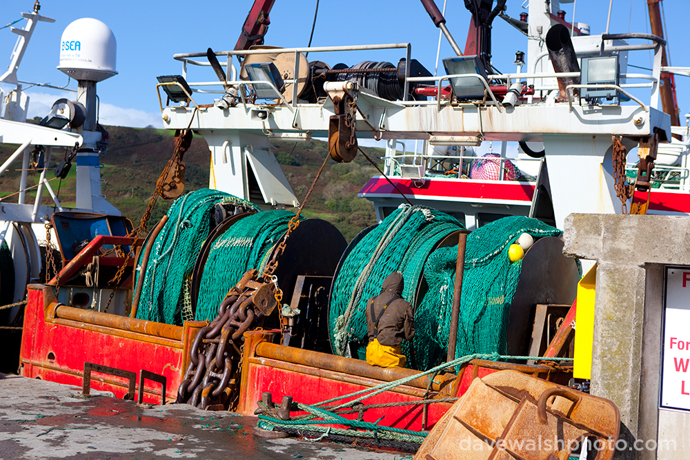 Fishing boats in the village Union Hall, West Cork, Ireland. Dave Walsh