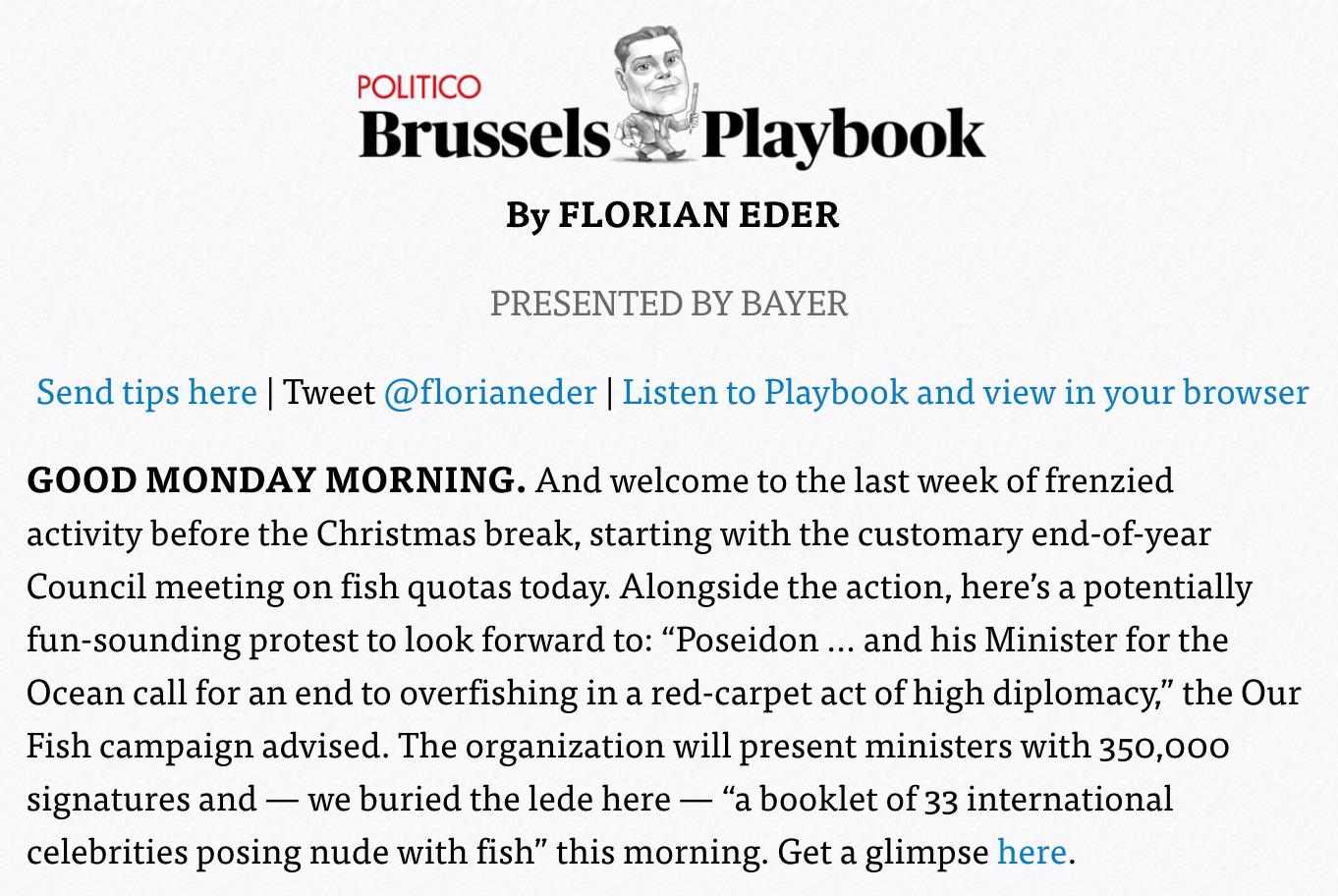 Brussels Playbook Poseidon