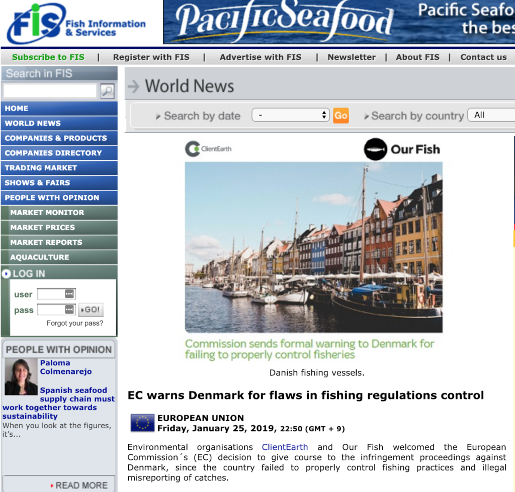 EC warns Denmark for flaws in fishing regulations control