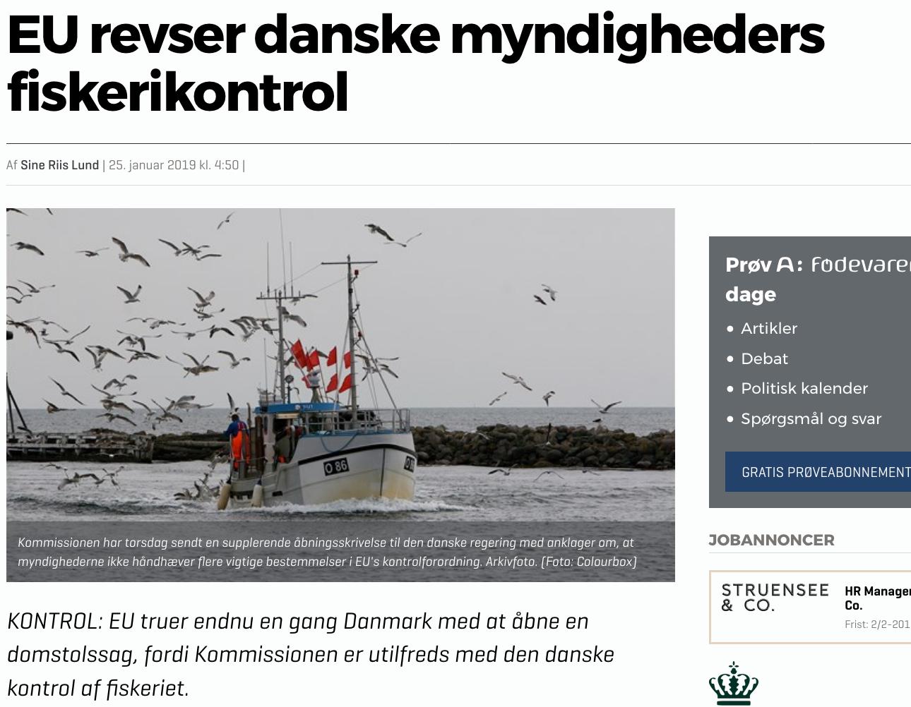 EU revser danske myndigheders skerikontrol