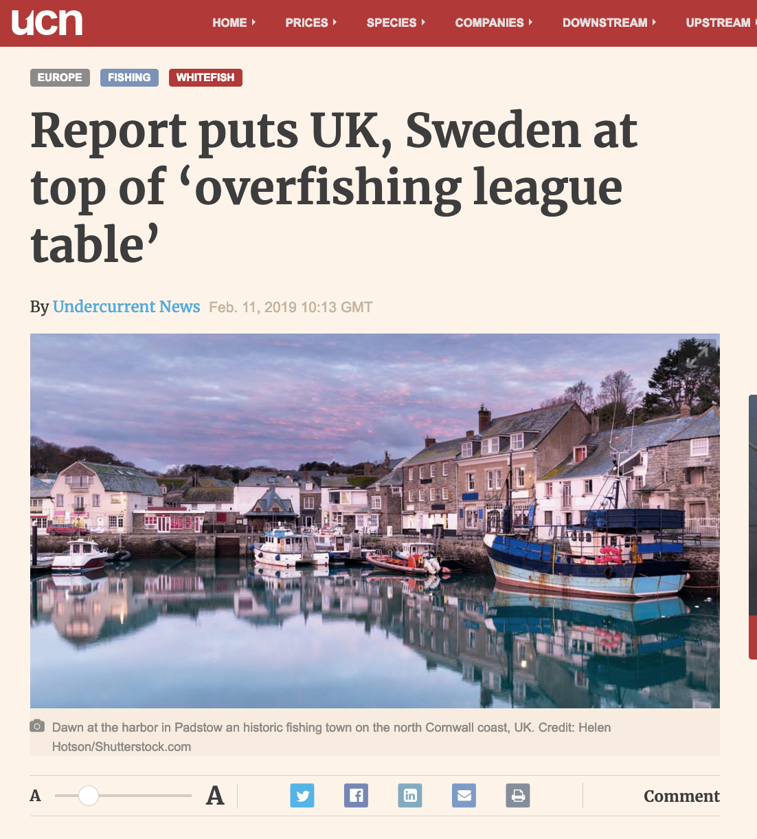 Report puts UK, Sweden at top of 'overfishing league table'