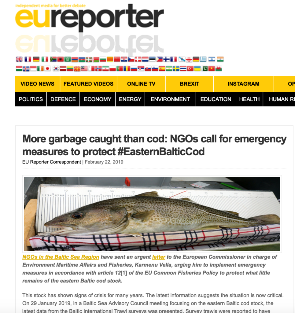 More garbage caught than cod: NGOs call for emergency measures to protect #EasternBalticCod