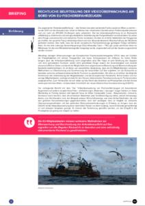 """Illegale Fischrückwürfe in der EU: Kontrolle durch """"Digitale Fischereibeobachter"""" rechtlich möglich"""
