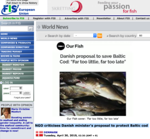 NGO criticises Danish minister's proposal to protect Baltic cod