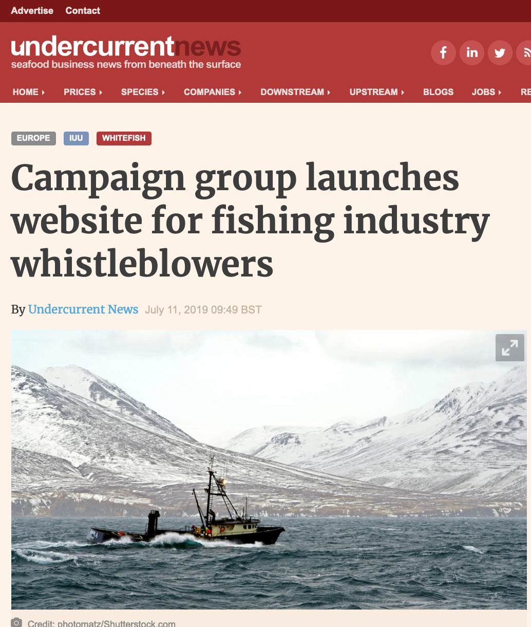Campaign group launches website for fishing industry whistleblowers