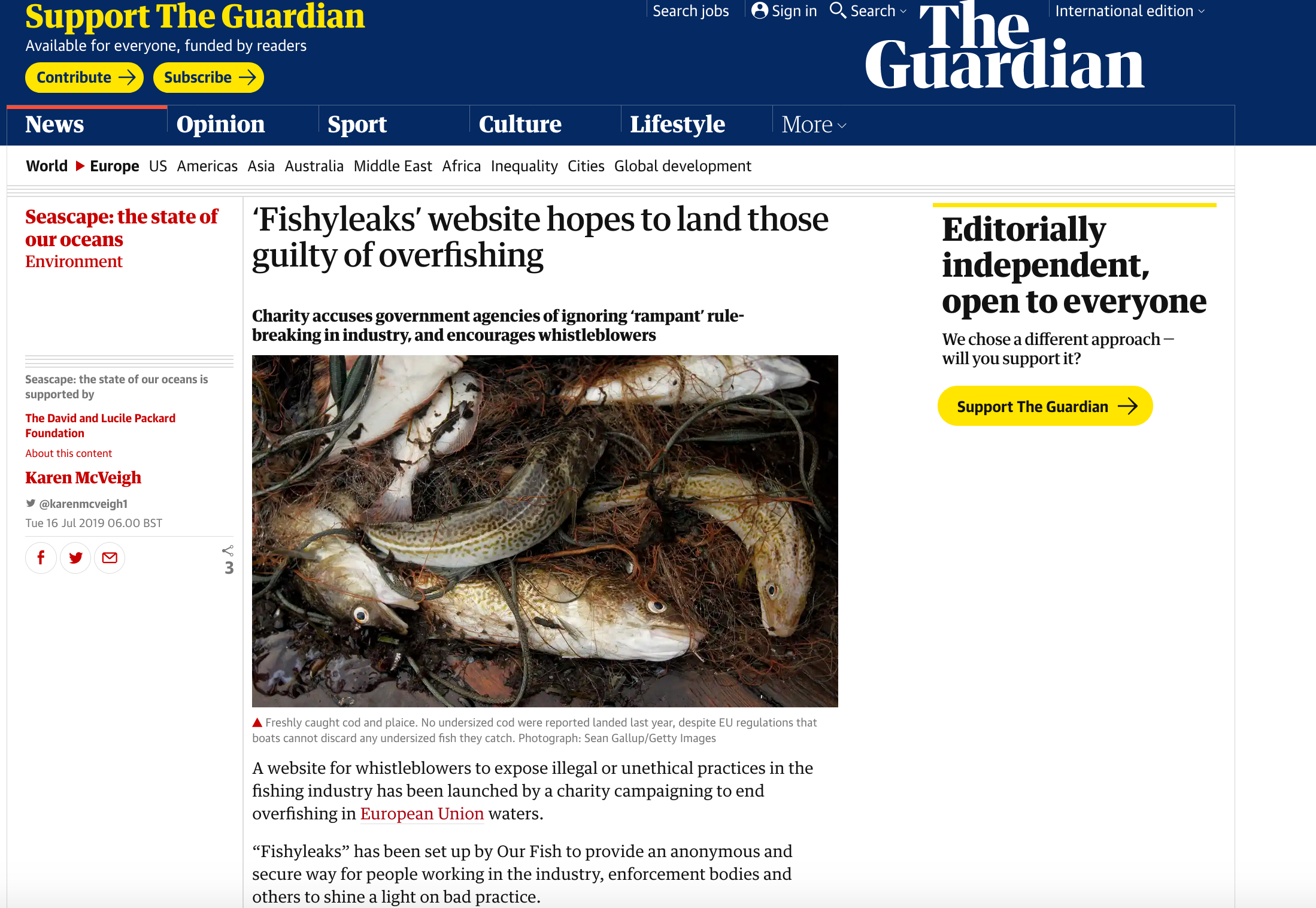 'Fishyleaks' website hopes to land those guilty of overfishing