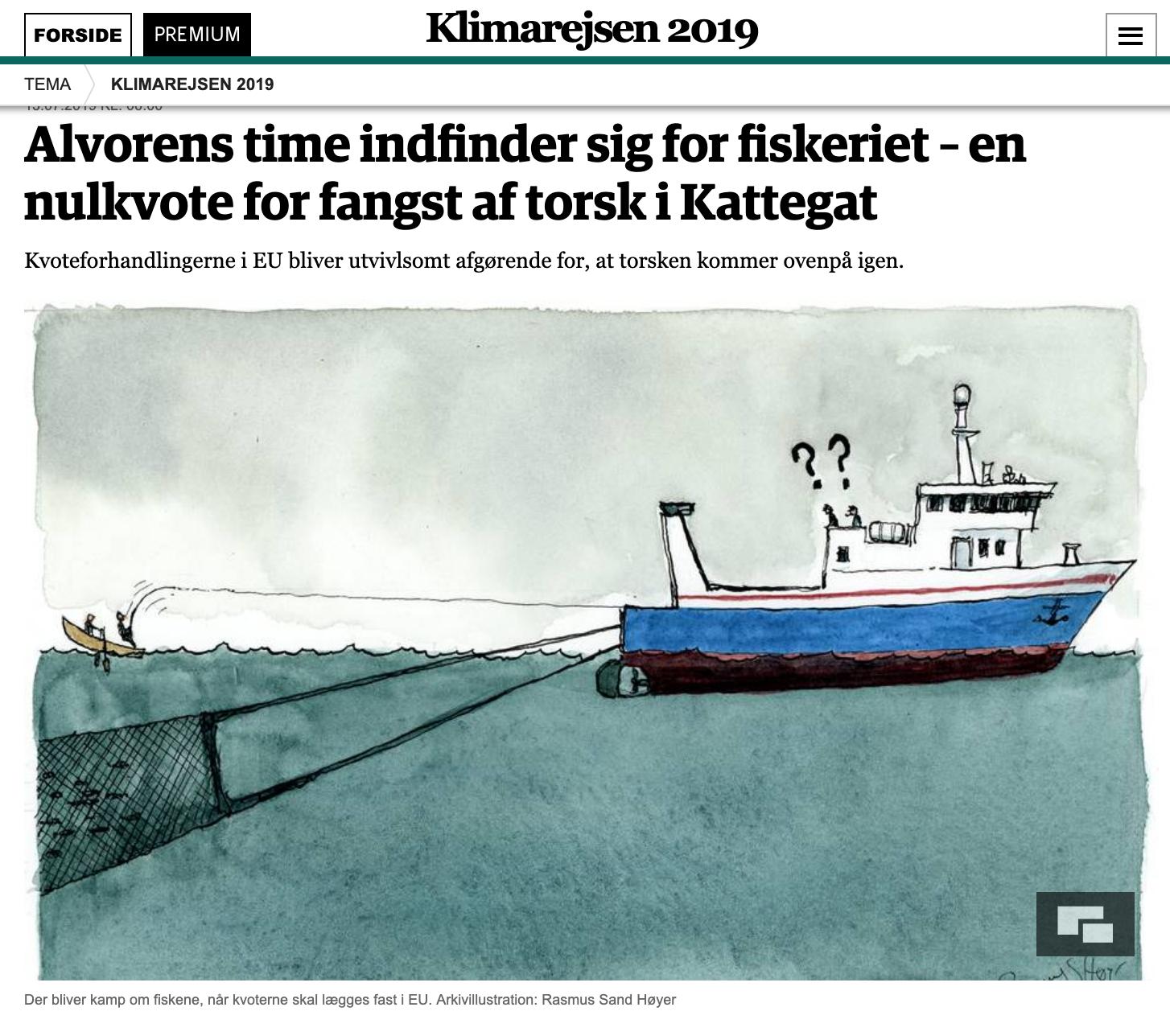 Alvorens time indfinder sig for fiskeriet – en nulkvote for fangst af torsk i Kattegat