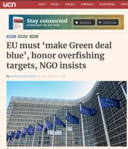 EU must 'make Green deal blue', honor overfishing targets, NGO insists