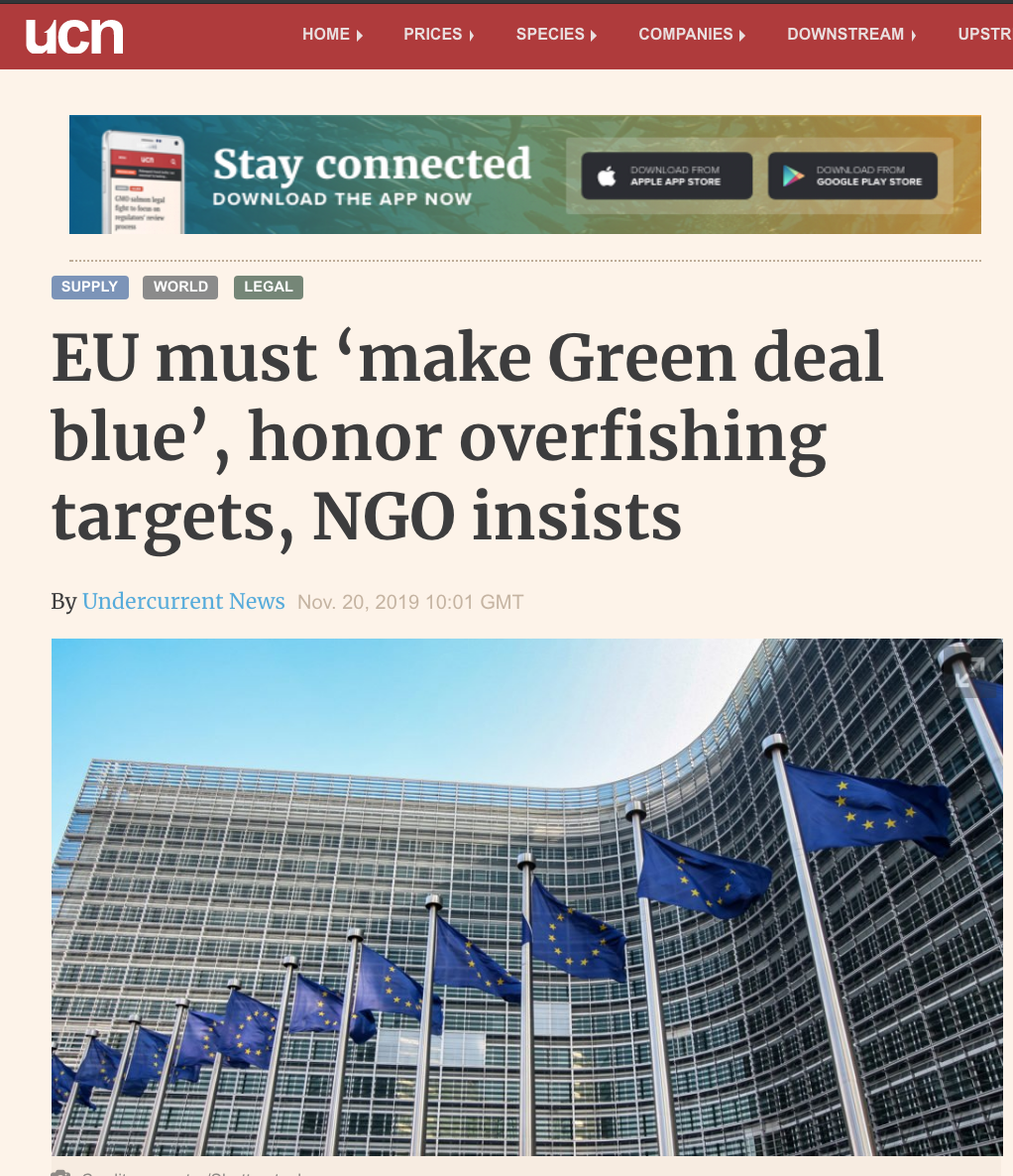 EU must 'make Green deal blue', honor overfishing targets, NGO insists
