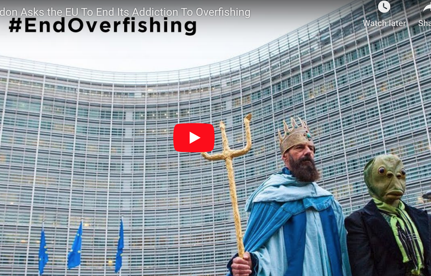 Euronews coverage of Our Fish event in Brussels, during Agrifish, December 17, 2018.