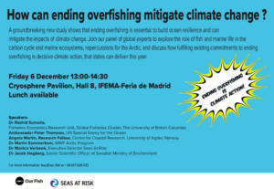 How can ending overfishing mitigate climate change ?