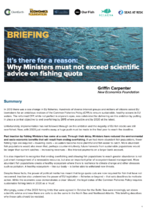 Why Ministers must not exceed scientific advice on fishing quota