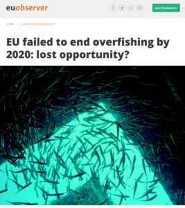 EU Observer: EU failed to end overfishing by 2020: lost opportunity?
