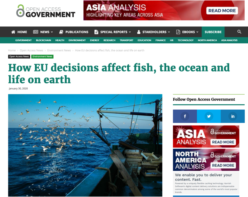 How EU decisions affect fish, the ocean and life on earth