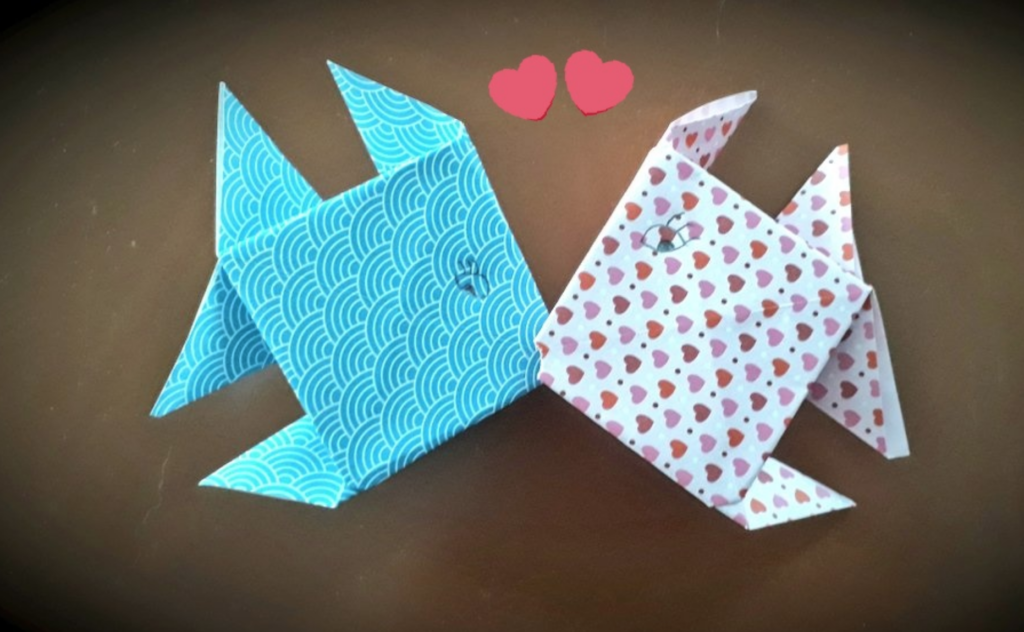 How To Make An Inflatable Origami Fish - Folding Instructions ... | 632x1024