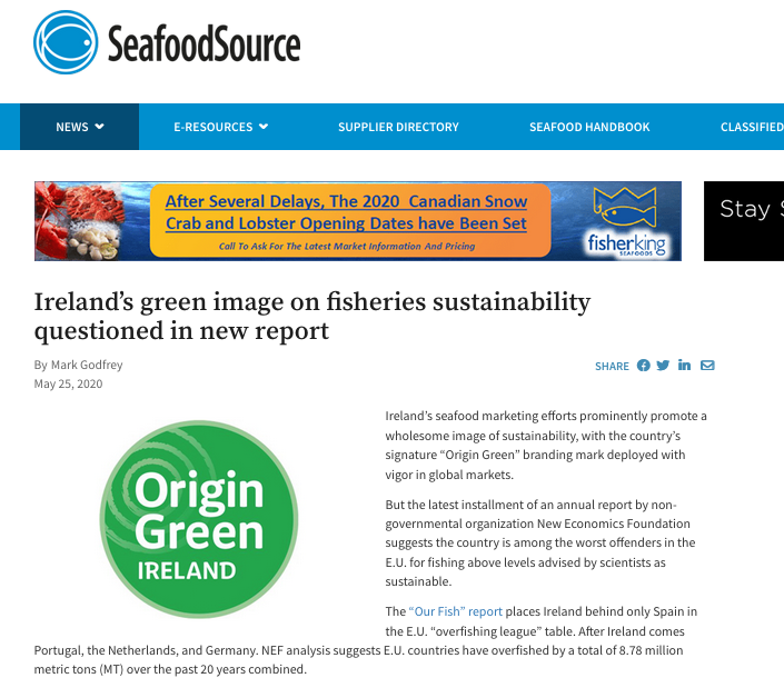 Ireland's green image on fisheries sustainability questioned in new report