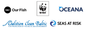 Our Fish, WWF, Oceana, Coalition Clean Baltic, Seas at Risk logos
