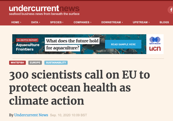 Over 300 scientists have signed a statement calling for an end to overfishing in the EU, delivered to EU commissioner for the environment, oceans and fisheries, Virginijus Sinkevicius this week