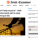 Irish Examiner: 'It doesn't help anyone' - Irish academics back call to stop overfishing in EU