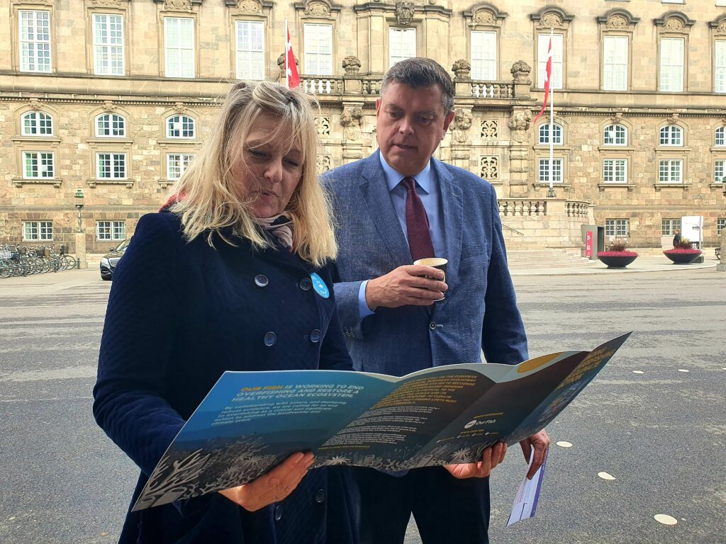 Danish Fisheries Minister Mogens Jensen with Berit Asmussen of Our Fish
