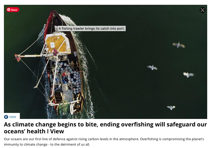 In the Face of Climate Change, End Overfishing to Ensure Ocean Health