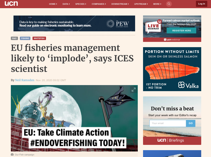Undercurrent: EU fisheries management likely to 'implode', says ICES scientist