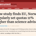 New study finds EU, Norway regularly set quotas 11% higher than science advises - Undercurrent News