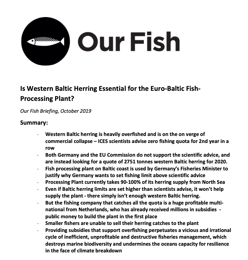 Is Western Baltic Herring Essential for the Euro-Baltic Fish- Processing Plant?