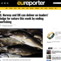 EU, Norway and UK can deliver on leaders' pledge for nature this week by ending overfishing