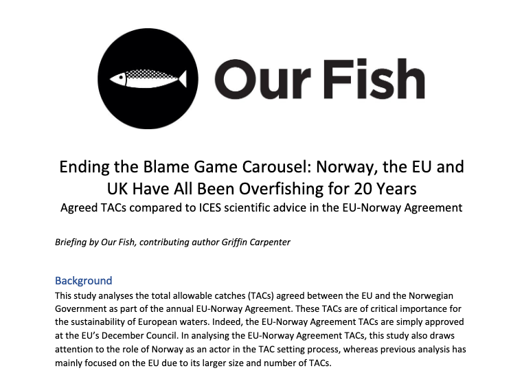Ending the Blame Game Carousel: 20 Years of EU, Norway and UK Overfishing