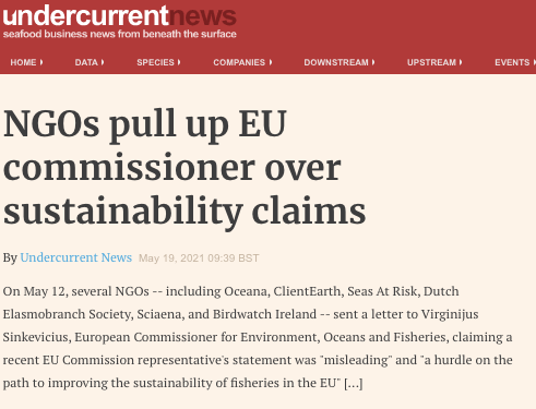 NGOs pull up EU commissioner over sustainability claims