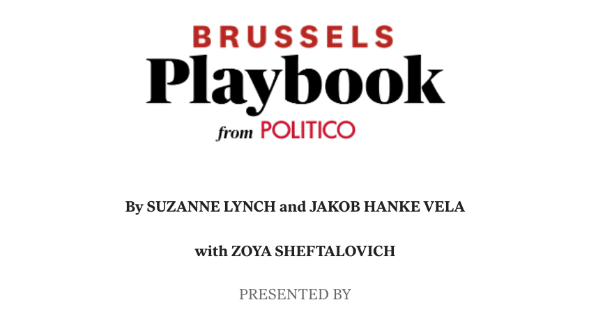 Brussels Playbook: Fishy Taxes