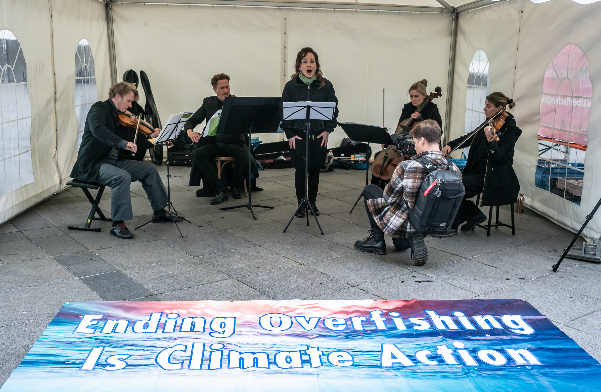 Listen to the Ocean - musicians perform at AGRIFISH in Luxembourg